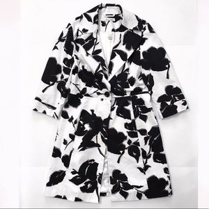 One button Coat Jacket size 8 floral print